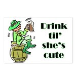 ST PATRICK'S DAY-IRISH DRINK Postcards (Package o