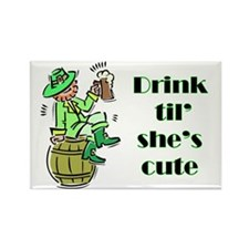 ST PATRICK'S DAY-IRISH DRINK Rectangle Magnet (10