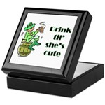 ST PATRICK'S DAY-IRISH DRINK Keepsake Box