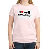I Love My Goalie -Soccer Women's Pink T-Shirt