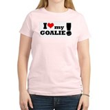 I Love My Goalie -Hockey Women's Pink T-Shirt