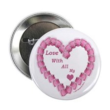 Memory Rose Heart Valentine Button