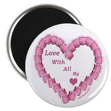 "Memory Rose Heart Valentine 2.25"" Magnet (10 pack)"