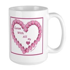 Memory Rose Heart Valentine Coffee Mug