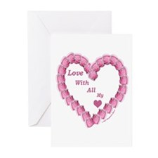Memory Rose Heart Valentine Greeting Cards (Packag