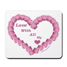 Memory Rose Heart Valentine Mousepad