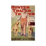 Hunter and Dogs Rectangle Magnet