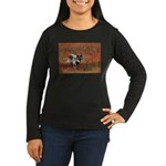Alpha Male Wolf Women's Long Sleeve Dark T-Shirt