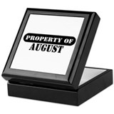 Property of August Keepsake Box