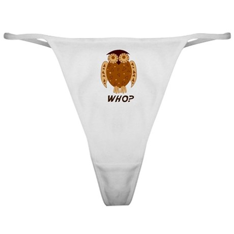 Who Owl Classic Thong