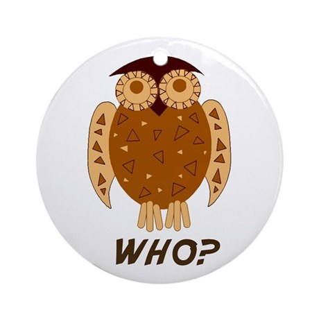 Who Owl Ornament (Round)