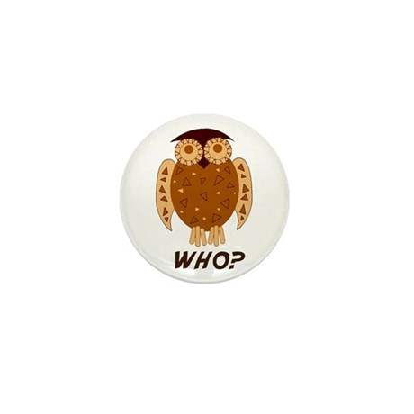 Who Owl Mini Button (10 pack)