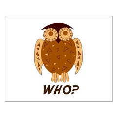 Who Owl Small Poster