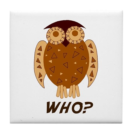 Who Owl Tile Coaster