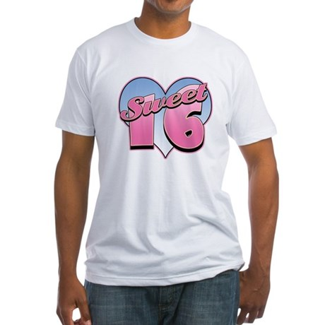 Sweet 16 Heart Fitted T-Shirt