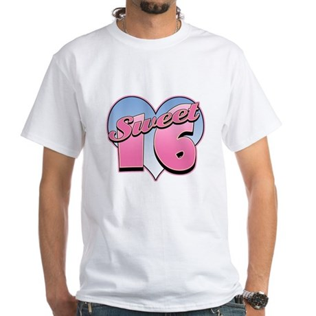 Sweet 16 Heart White T-Shirt