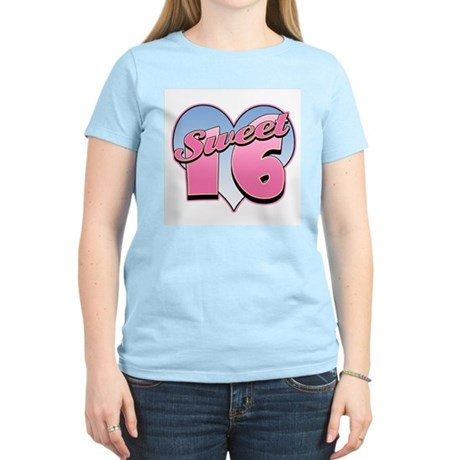 Sweet 16 Heart Women's Pink T-Shirt