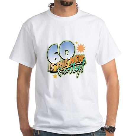 60 New Forty White T-Shirt