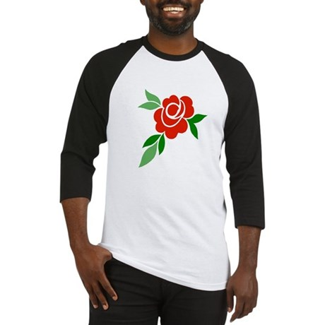 Red Rose Baseball Jersey