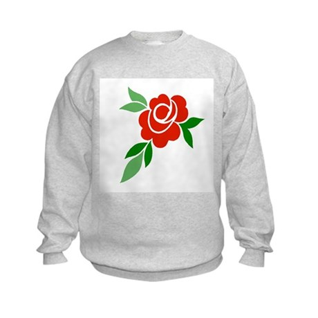Red Rose Kids Sweatshirt