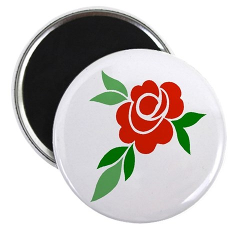 "Red Rose 2.25"" Magnet (100 pack)"
