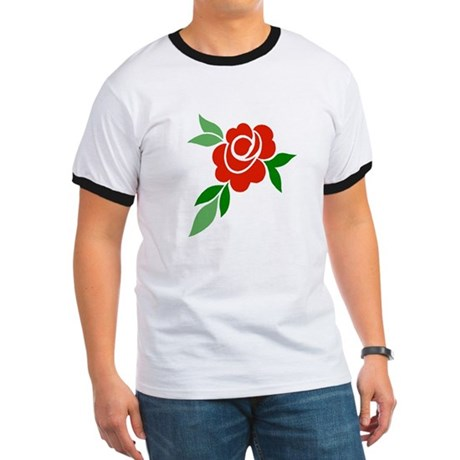 Red Rose Ringer T