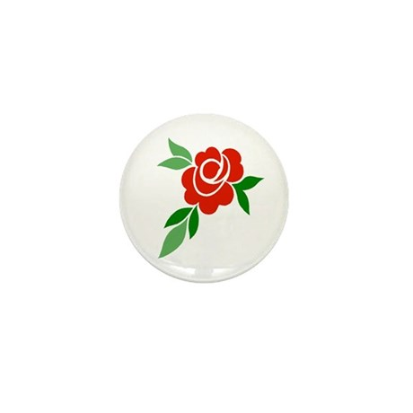 Red Rose Mini Button