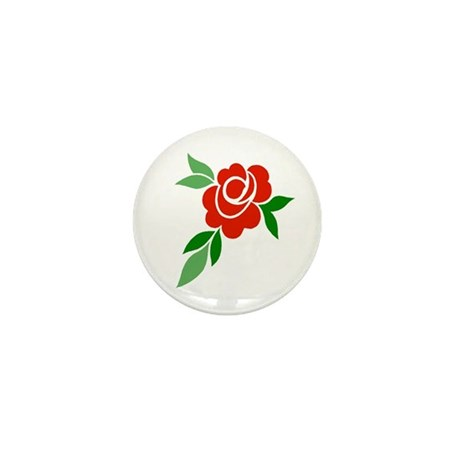 Red Rose Mini Button (10 pack)
