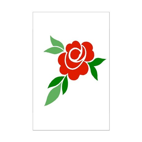 Red Rose Mini Poster Print