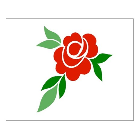 Red Rose Small Poster