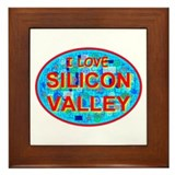 I Love Silicon Valley Framed Tile