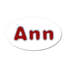 Ann Santa Fur 35x21 Oval Wall Decal