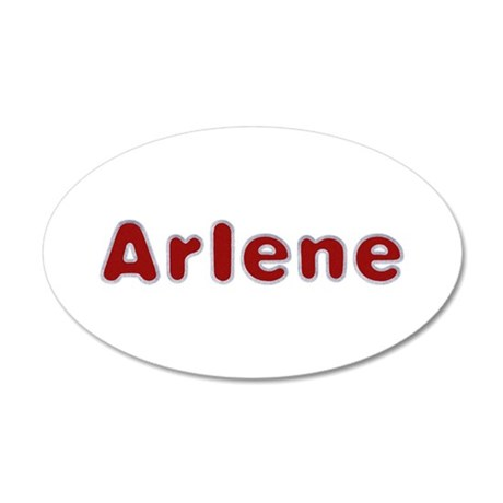 Arlene Santa Fur 20x12 Oval Wall Decal