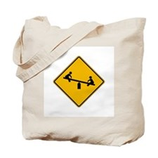 Playground Warning - USA Tote Bag