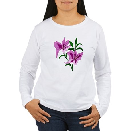 Pink Lilies Women's Long Sleeve T-Shirt