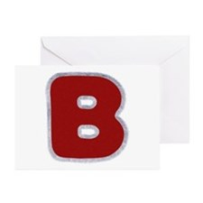 B Santa Fur Greeting Card 20 Pack