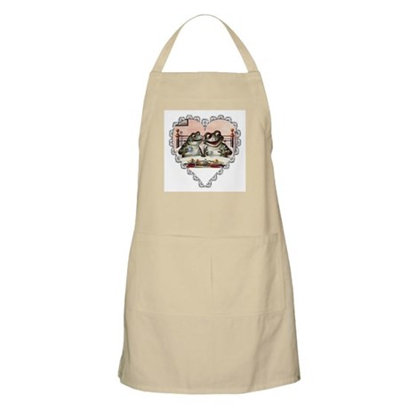 Frog Couple BBQ Apron