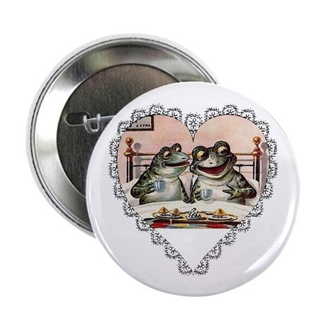 Frog Couple Button