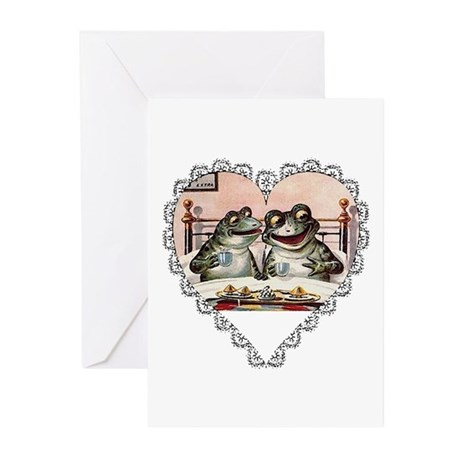 Frog Couple Greeting Cards (Pk of 10)
