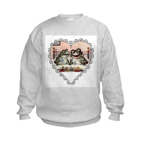Frog Couple Kids Sweatshirt