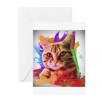 Colorful Cat Greeting Cards (Pk of 20)