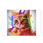 Colorful Cat Postcards (Package of 8)