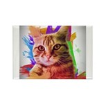 Colorful Cat Rectangle Magnet (100 pack)