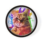 Colorful Cat Wall Clock