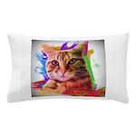 Colorful Cat Pillow Case