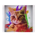 Colorful Cat Throw Blanket