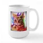 Colorful Cat Large Mug