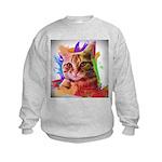 Colorful Cat Kids Sweatshirt