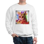 Colorful Cat Sweatshirt