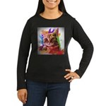 Colorful Cat Women's Long Sleeve Dark T-Shirt